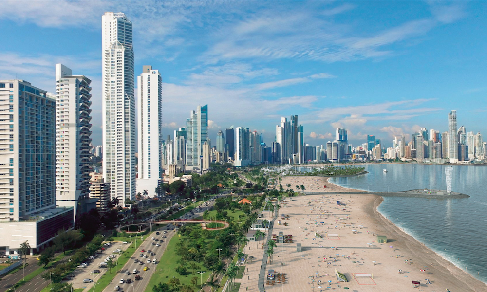 Panama City with planned beach (image by Alcaldia de Panama)