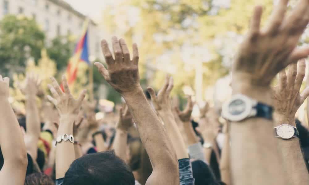 Demonstrationen in Südamerika